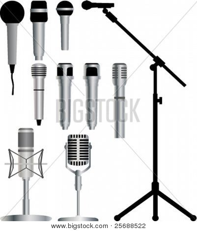 Microphone vector collection