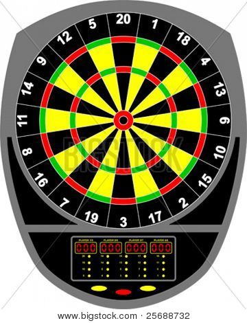 Dartboard electronic
