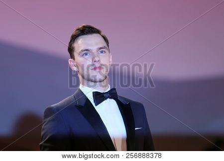 Nicholas Hoult walks the red carpet ahead of the 'The Favourite' screening during the 75th Venice Film Festival at Sala Grande on August 30, 2018 in Venice, Italy.