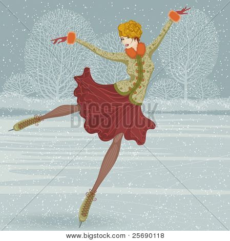 Beautiful ice skater