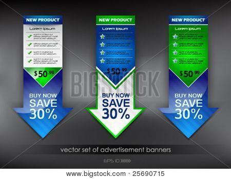 vector set of advertisement banners