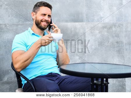 Brief Coffee Break Provides Employees With Quick Ways To Relax. Coffee Break Brings Physical And Men