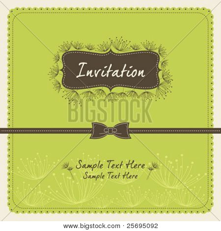 dandelion invitation template 09