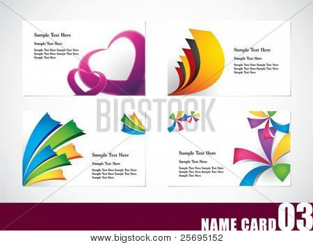 Name card template set 03