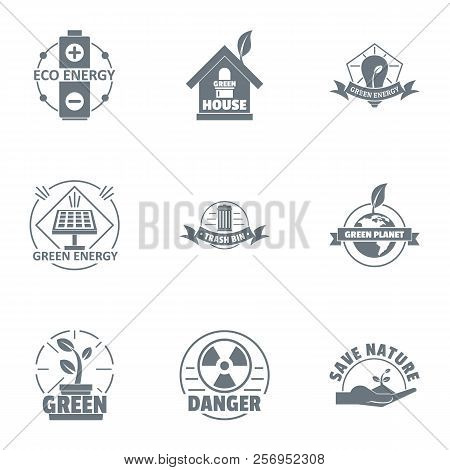 Environmental Logo Set. Simple Set Of 9 Environmental Logo For Web Isolated On White Background