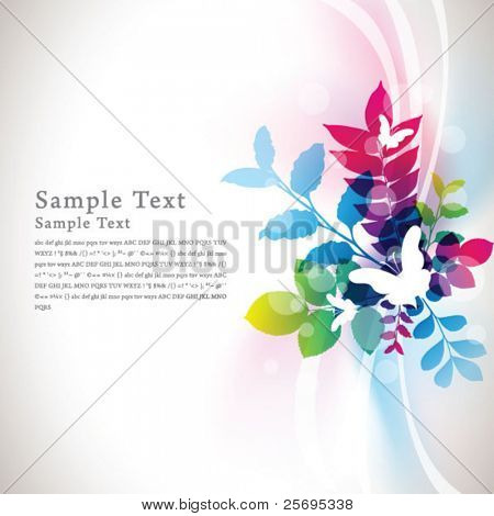 abstract flora background 09