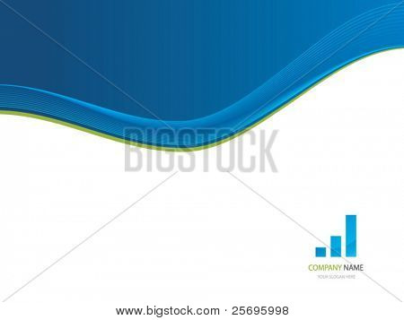 presentation background with blue wave