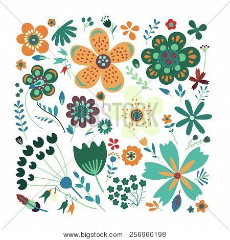 Amazing Floral Vector Seamless Pattern Of Flowers
