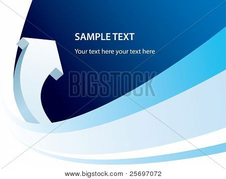 blue business template