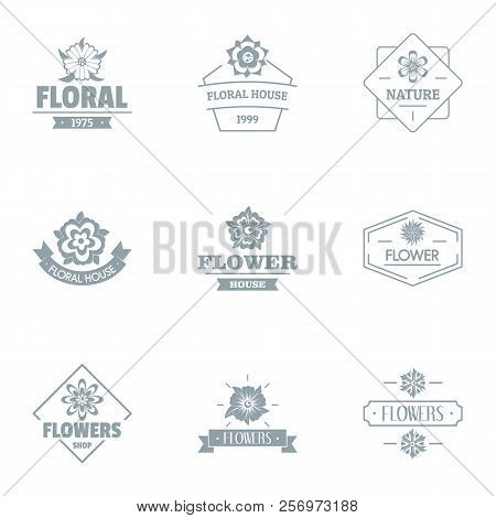 Flora Logo Set. Simple Set Of 9 Flora Logo For Web Isolated On White Background