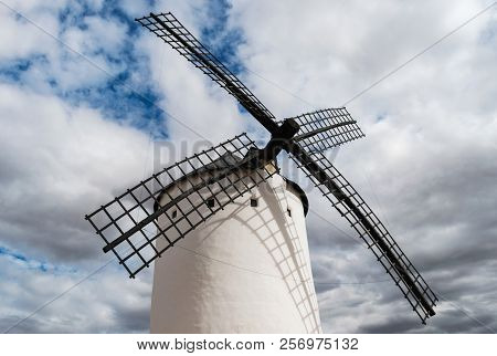 Windmill Of Don Quijote In Castilla La Mancha. Spain.