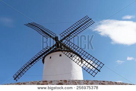 Blades Of A Windmill In Alcazar De San Juan. Castilla La Mancha. Spain.