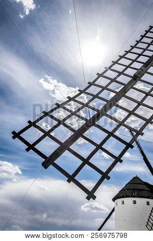 Blade Of A Windmill In Castilla La Mancha. Spain.