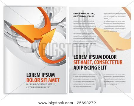 vector business brochure (booklet) template