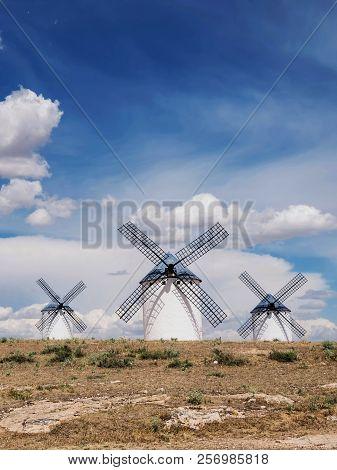 Winmills Of Don Quijote In Campo De Criptana. Castilla La Mancha. Spain.