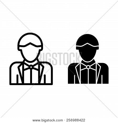 Newly Married Man Line And Glyph Icon. Groom Vector Illustration Isolated On White. Wedding Outline