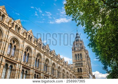 Impressive Building Of The Natural History Museum In London, England