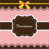 Invitation card design 03 poster