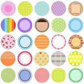 A Cute Collection of Vector Labels / Cards / Tags, pastel colors isolated on white. poster