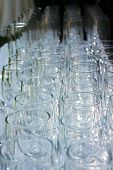 rows of wine glasses from above poster