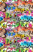 Graffiti seamless background. Urban art texture poster