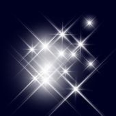 Vector glittering stars (can be used with any background) poster