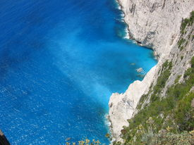 The Blue Sea Of Zakynthos In Greece