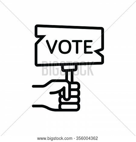 Black Line Icon For Election Ballot Poll Polling Vote Casting Voting Banner Plate Poster Democracy