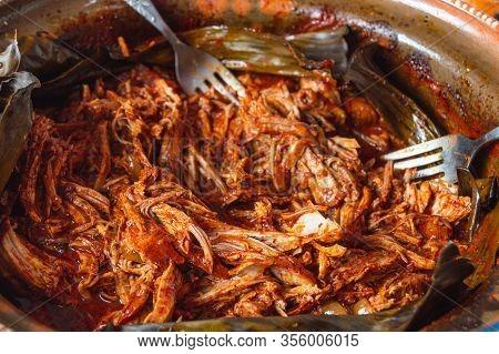 Preparing Cochinita Pibil, Pit-roasted Marinated Pork From Yucatan