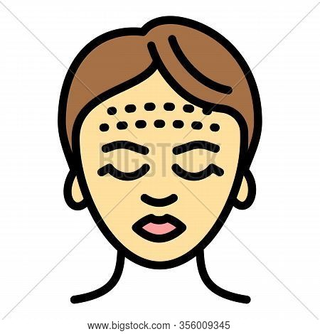 Forehead Lifting Icon. Outline Forehead Lifting Vector Icon For Web Design Isolated On White Backgro