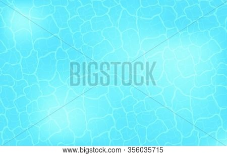 Blue Water Or Ocean Surface Pattern Textured. Abstract Sea Wave Background. Wallpaper, Backdrop, Bac