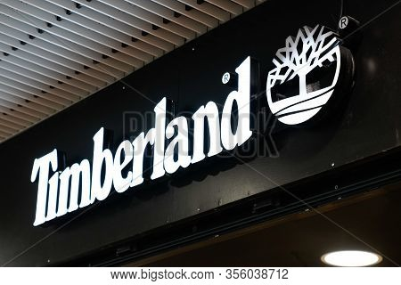 Bordeaux , Aquitaine / France - 09 18 2019 : Store Timberland Llc American Manufacturer Of Outdoors