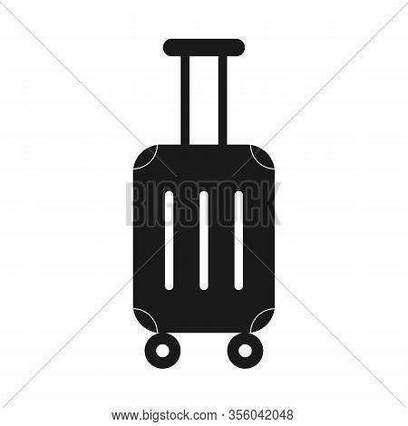 Suitcase Icon. Stoc K Vecto R Illustration, Simpl E Desig N Fo R Logo, Websit E O R App.