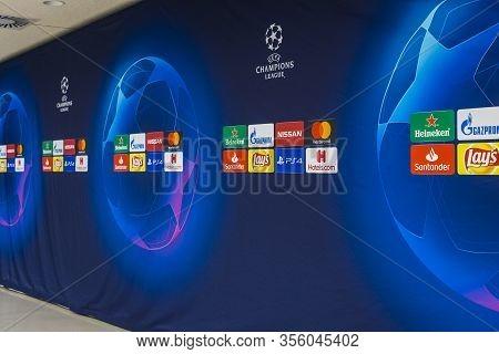 Munich, Germany - November 25, 2018 : The Interior Of The Home Stadium Allianz Arena Football Club M
