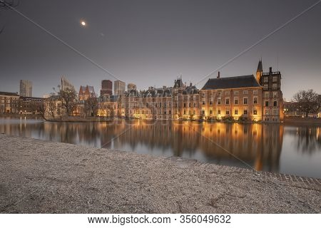 The Hague - February 17 2019: The Hague, The Neherlands. View To The Historical Binnenhof With The H