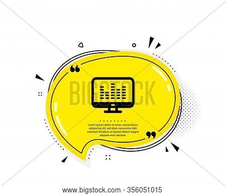 Music Making Icon. Quote Speech Bubble. Dj App Sign. Musical Device Symbol. Quotation Marks. Classic