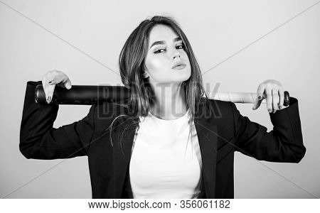 Business Strategy. Aggressive Business. Business Lady Boss. Decisive Actions. Confidence And Strengt