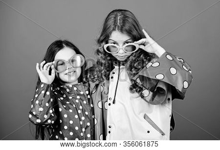 Sisters Happy Wear Waterproof Cloak. Enjoy Rainy Weather With Proper Garments. Waterproof Accessorie