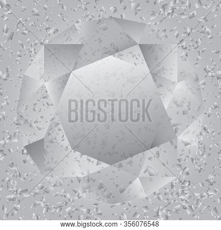 Brilliant Image On Cement And Marble Chips Background. Dotted Halftone Vector Pattern Or Texture. St