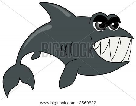 An Illustration of a Shark with Clipping Path poster