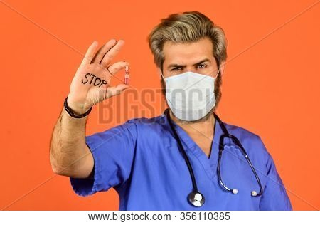 Coronavirus Epidemic From China. Say No To Flu. Healthcare And Immunity. Stop Coronavirus. Dont Ente
