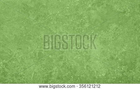 Grunge Uneven Pastel Green Marble Stone Or Malachite Texture Background With Cracks And Stains
