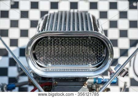 Supercharger Air Scoop On A High Performance Racing Vehicle