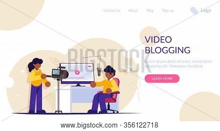 Video Blogging Concept. Take Entertaining Or Educational Content For Your Channel Or Social Network.