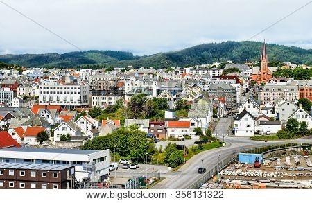 Cityscape Of City Of Haugesund In Norway