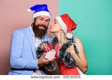 Christmas Party Office. Giving Gift. Festive Mood. Boxing Day. Secret Santa. Winter Corporate Party.