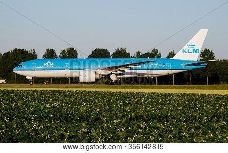 Amsterdam / Netherlands - July 3, 2017: Klm Royal Dutch Airlines Boeing 777-200 Ph-bqd Passenger Pla