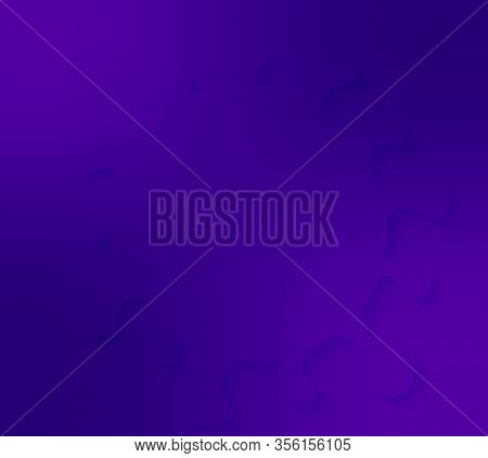 Coronavirus Known As Sars-cov - Vector Realistic Illustration In Purple. Web Banner Or Article Pictu