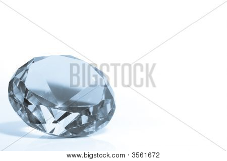 Blue Diamond With Copyspace