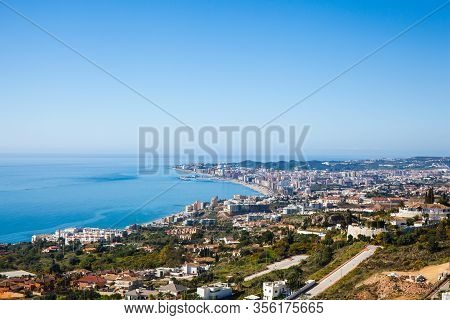 Fuengirola. Aerial View Of Fuengirola. Costa Del Sol, Malaga, Andalusia, Southern Spain.